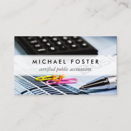 Carte De Visite Elegant Minimal Simple Dexpert Comptable