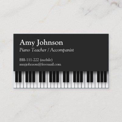 Le Piano Verrouille Carte De Visite