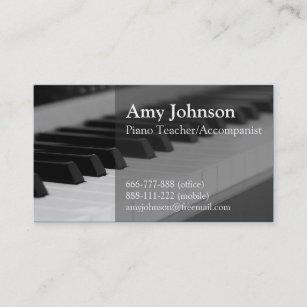 Carte De Visite Elegant Moderne Professionnel Professeur