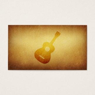 Carte de visite empaqueté de musicien de guitare