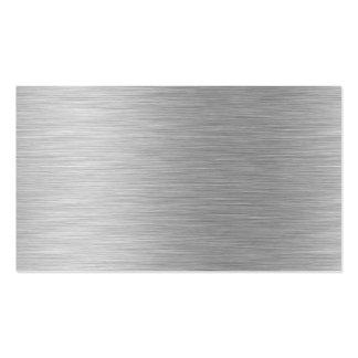 carte de visite en aluminium balayé