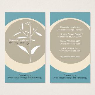 Carte de visite en bambou de thérapie de massage