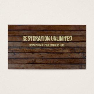Carte de visite en bois foncé de planche de Brown