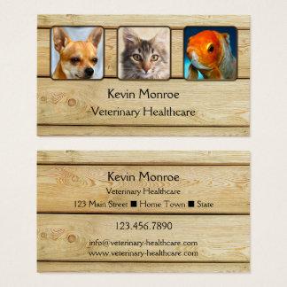 Carte de visite en bois rustique personnalisé de