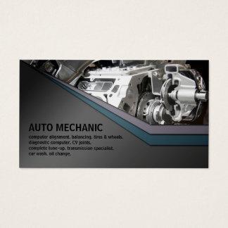 Carte de visite en métal de service de mécanicien
