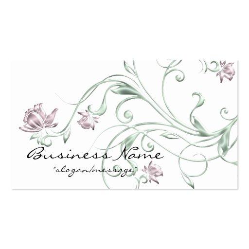 Carte de visite en pastel floral/de vigne concepti