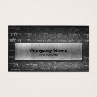 Carte de visite en pierre gris d'armurerie
