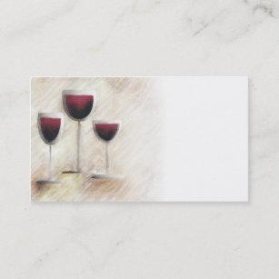 Carte De Visite En Verre Trio Vin Rouge