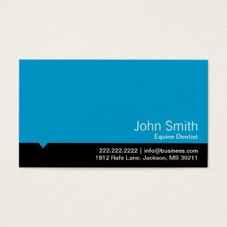Carte de visite équin bleu moderne de dentiste