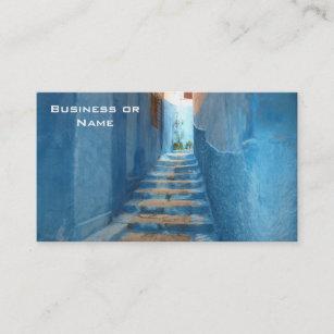 Carte De Visite Escalier Bleu Etroit Au Maroc