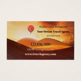 Carte de visite exotique d'agence de voyages