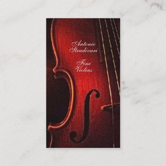 Carte De Visite Fabricant Fin Luthier Dinstrument Violon
