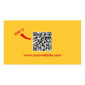 Carte de visite facile simple de code du jaune QR