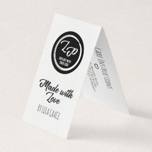 Carte De Visite Fait Avec Amour Votre Tiquette Coup Logo