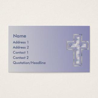 Carte de visite fait sur commande chrétien croisé
