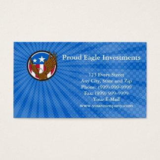 Carte de visite fier d'investissements d'Eagle