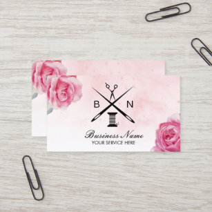 Carte De Visite Fil Douvriere Couturiere Et Couture Florale