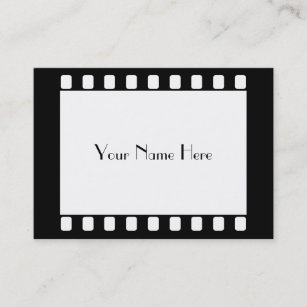 Carte De Visite Film 35mm Votre Nom Ici