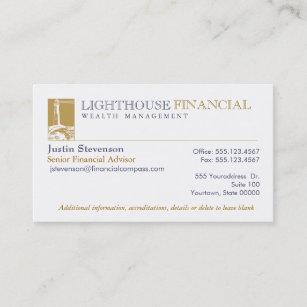 Carte De Visite Financier Conseiller