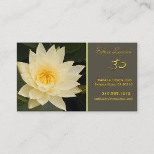 Carte De Visite Fleur Lotus Yoga LOM Guerisseurs
