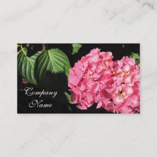 Carte De Visite Fleurs Roses Dhortensia