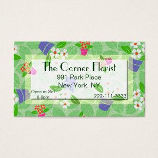 Carte de visite floral
