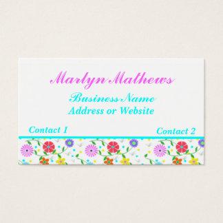 Carte de visite floral coloré