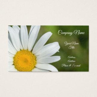 Carte de visite floral de marguerite excentrée