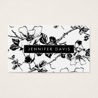 Carte de visite floral de motif