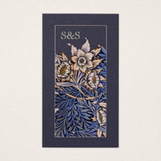 Carte de visite floral de Nouveau d'art