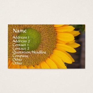 Carte de visite floral de pétales de tournesol