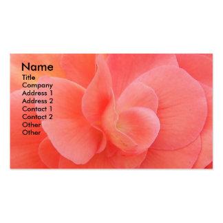 Carte de visite floral de pétales mous