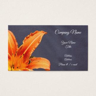 Carte de visite floral excentré d'hémérocalle et