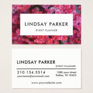 Carte de visite floral moderne d'organisateur de