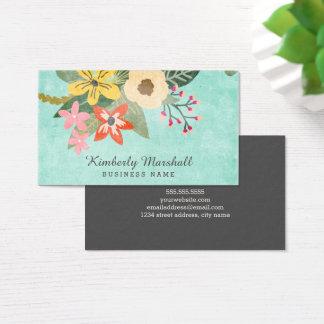 Carte de visite floral peint