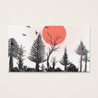 carte de visite foncé de forêt