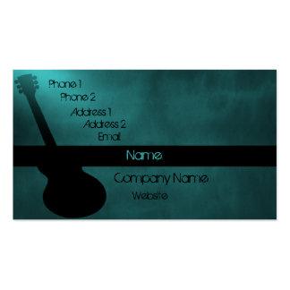 Carte de visite foncé de guitare, Teal