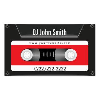 Carte de visite foncé du DJ de musique d'enregistr
