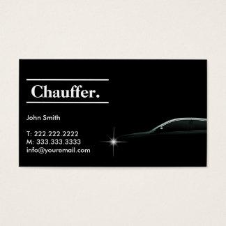 Cartes De Visite Carte de visite foncé élégant de chauffeur de