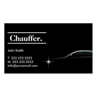 Carte de visite foncé élégant de chauffeur de taxi