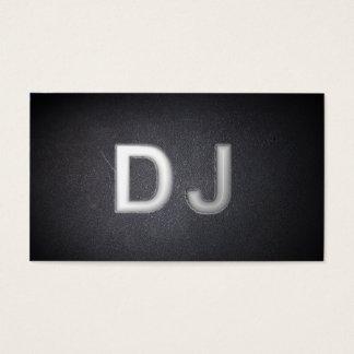 Carte de visite frais du DJ de noir de charbon de
