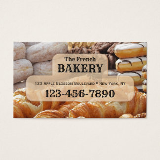 Carte de visite français de boulangerie
