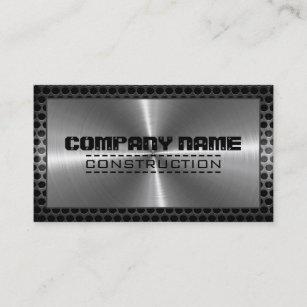 Carte De Visite Frontire Moderne En Mtal Inoxydable Chrome