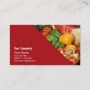 Carte De Visite Fruit Frais Et Legumes