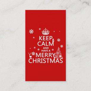 Carte De Visite Gardez Le Calme Et Ayez Un Joyeux Noel