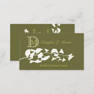 Carte De Visite Ginkgo Biloba Dcor Dun Monogramme
