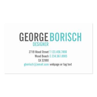 Carte de visite gris blanc bleu à la mode moderne