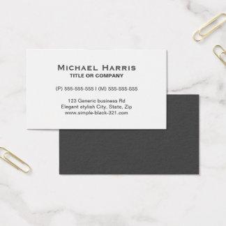 Carte de visite gris blanc élégant simple moderne