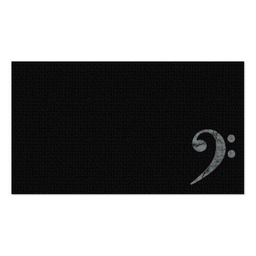Carte de visite gris de musicien de symbole de cle
