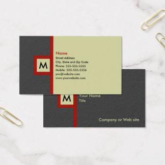 Carte de visite gris et rouge moderne de